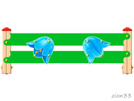 3787)Ограждение детской площадки «Колокольчик У1»