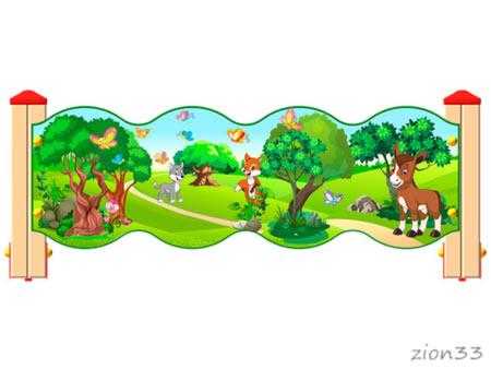 3788)Ограждение детской площадки «Лесной мир У1»