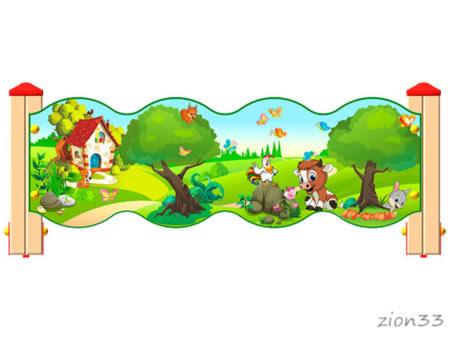 3789)Ограждение детской площадки «Лесной мир У2»