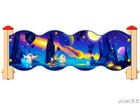3791)Ограждение детской площадки «Космос У2»