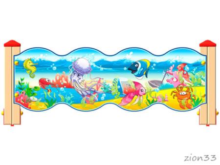 3793)Ограждение детской площадки «Морское Царство У1»
