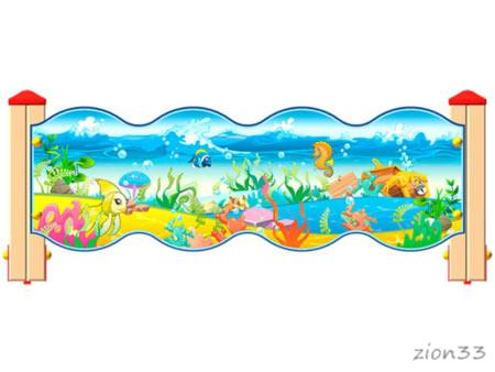 3794)Ограждение детской площадки «Морское Царство У2»