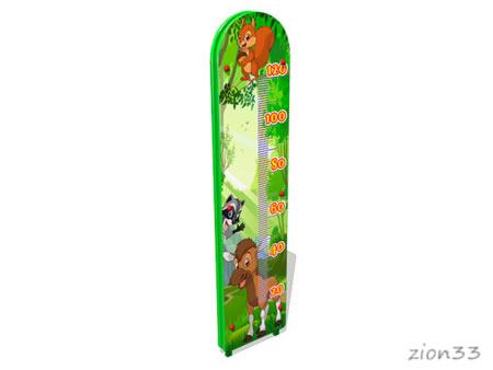 3800)Ростомер уличный двусторонний «Лесной мир»
