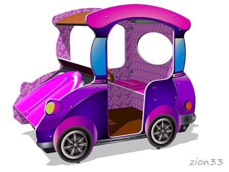 107)Игровой макет «Машинка-Жук»