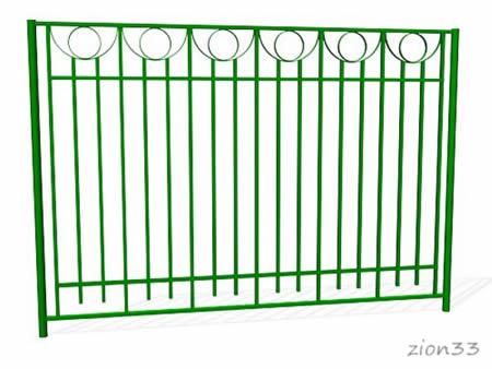 377)Забор металлический ОЗ-28