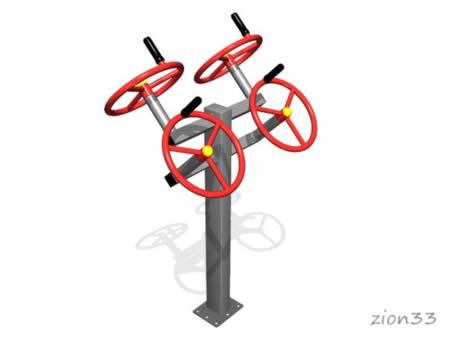 3683)Уличный тренажер двойной «Рули»