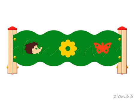 3694)Ограждение детской площадки «Лесная полянка»