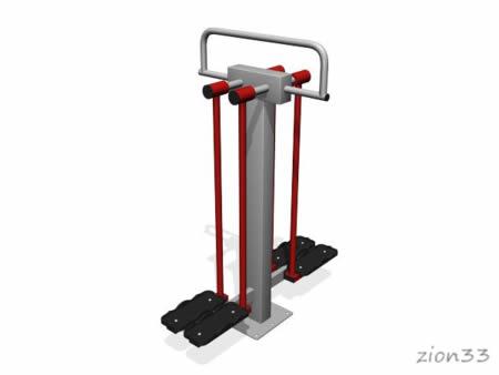 3669)Уличный тренажер двойной «Разведение ног»