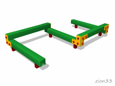 3677)Детский гимнастический бум «Змейка 5»
