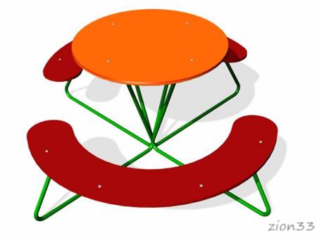 263)Детский столик «Улыбка»