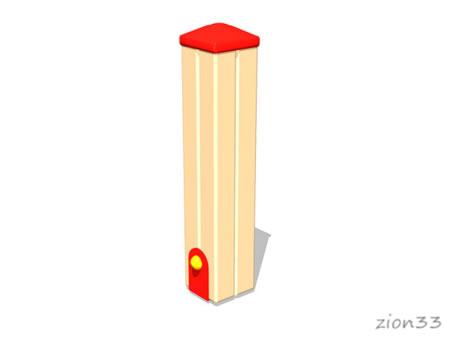 3700)Столбик газонного ограждения 100х100х500