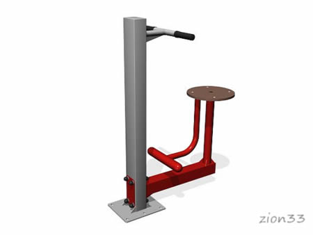 3671)Уличный тренажер «Твистер сидя»