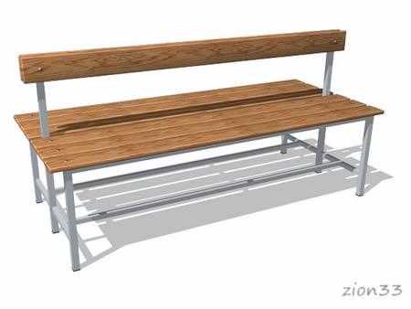 269)Скамейка для раздевалок СВ5