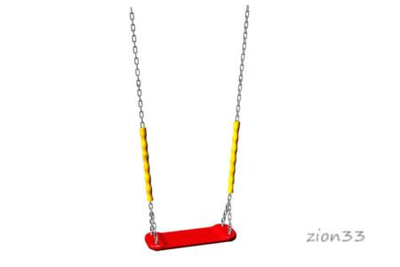 3652)Сидение для качелей без спинки с цепями