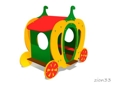 3684)Детский игровой домик «Карета 2»