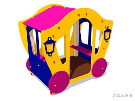 3685)Детский игровой домик «Карета 3»