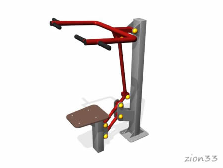 3673)Уличный тренажер «Верхняя тяга»