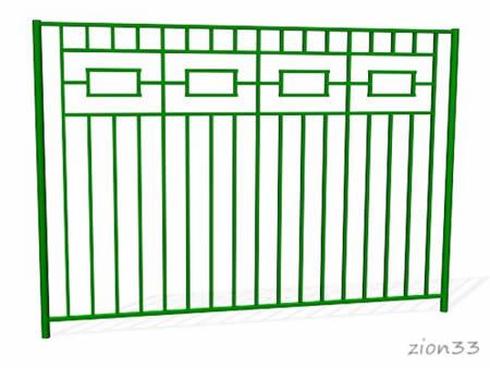 295)Забор металлический ОЗ-4