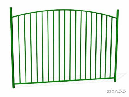 375)Забор металлический ОЗ-9