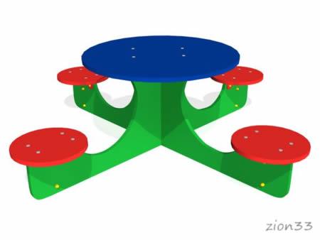 3568)Детский столик «Крестик»