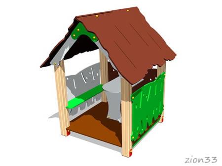 3731)Детский игровой домик «Хижина»