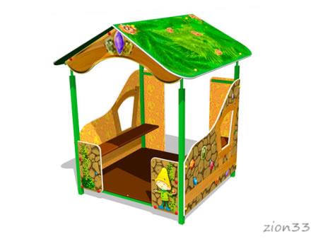 3826)Детский игровой домик «Гном У1»