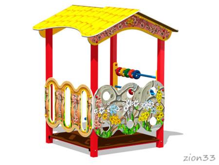 3837)Детский игровой домик «Беседка У1»
