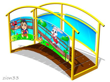 3869)Игровой макет «Мостик-переход М1»
