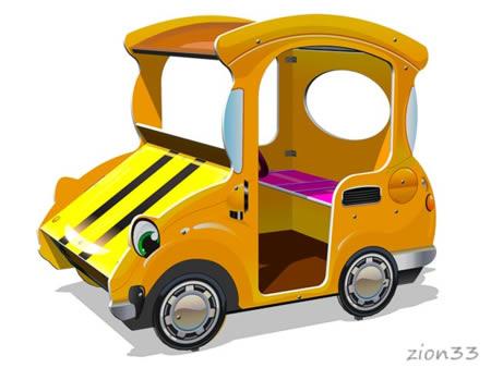 3871)Игровой макет «Машинка-Жук М1»