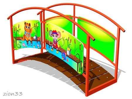 3870)Игровой макет «Мостик-переход М2»