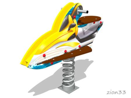 3770)Качалка на пружине «Скутер У2»