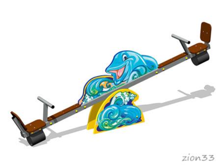 3784)Качалка-балансир «Дельфины У1»