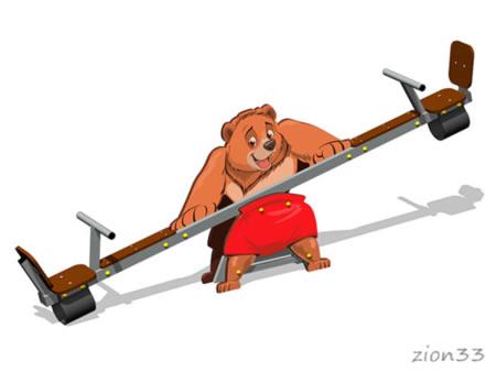 3785)Качалка-балансир «Мишка У1»