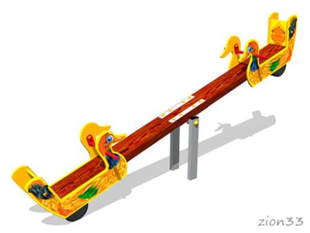 3786)Качалка-балансир «Утки У1»