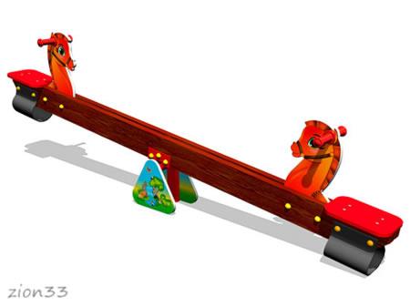 3876)Качалка-балансир «Лошадки»