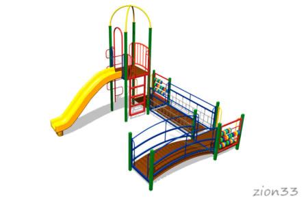 124)Детский игровой комплекс «Красная панда»