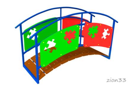 73)Игровой макет «Мостик-переход»