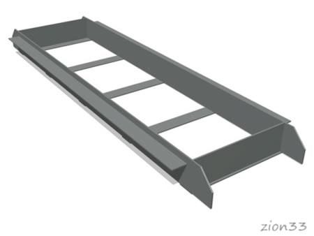3821)Кассета для бруска отталкивания металлическая