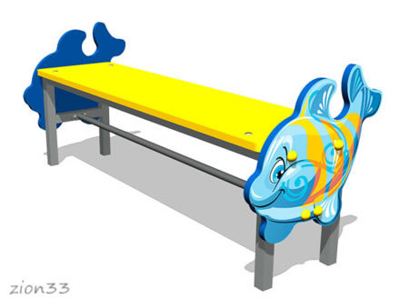 227)Скамейка детская «Кит»
