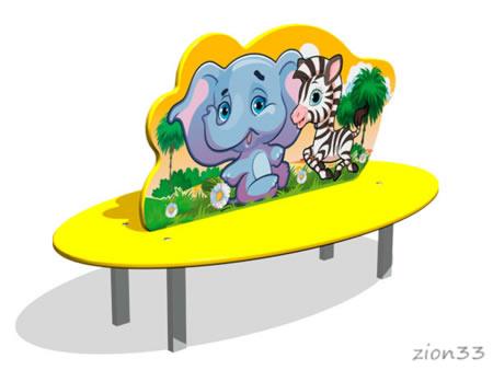 3753)Скамейка детская «Саванна»
