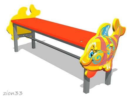 3750)Скамейка детская «Кит М1»