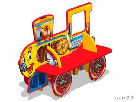 3752)Скамейка детская «Паровозик У1»