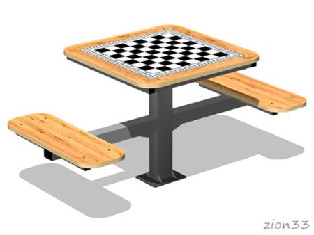 3814)Стол шахматный М1