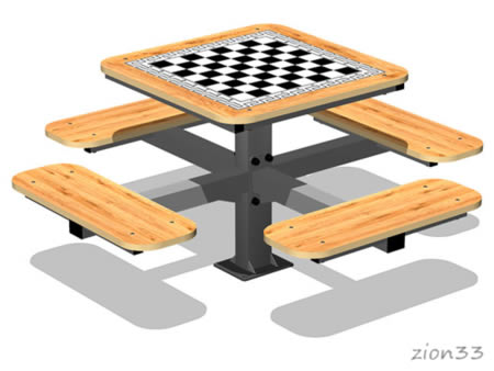 3815)Стол шахматный М2