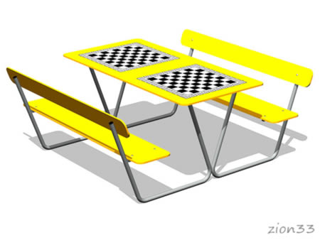 3816)Стол шахматный М3