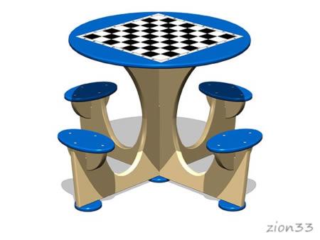 3817)Стол шахматный М4