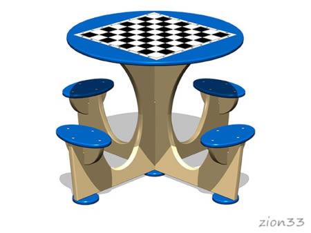 3804)Стол шахматный М4 (детский)