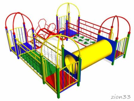 Детский игровой комплекс «Енот» эскиз