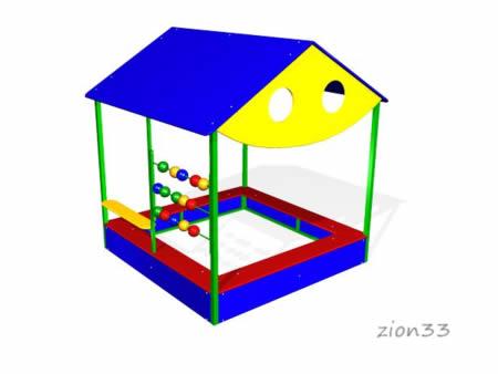Песочный домик «Магазин» эскиз