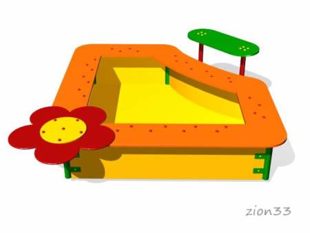 Детская песочница «Фиалка» эскиз